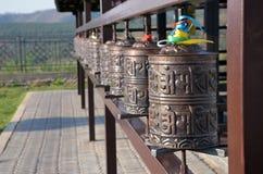 Buddhistische Trommeln Stockfotografie