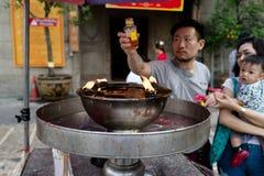 Buddhistische Verdienstherstellung stockfotografie