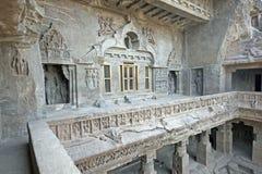Buddhistischer Felsen-Tempel Stockfoto