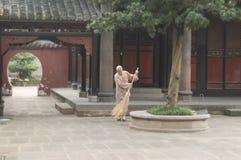 Buddhistischer Mönch Stockfoto