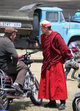 Buddhistischer Mönch bei Naadam lizenzfreies stockfoto