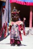 Buddhistischer Maskentänzer von Ladakh lizenzfreie stockfotografie