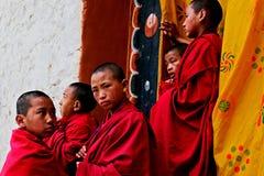 Buddhistischer Mönch in Bhutan Stockfotografie