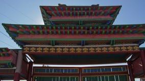 Buddhistischer mongolischer Buryat-Tempel stock video footage
