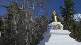 Buddhistischer mongolischer Buryat-Tempel stock footage
