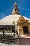 Buddhistischer Schrein Boudhanath Stupa. Nepal Stockbild
