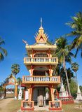 Buddhistischer Tempel auf Don Khon Stockbild