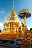 Buddhistischer Tempel in Bangkok Stockfotografie