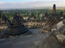 Buddhistischer Tempel Borobudur Nahe Yogyakarta auf Java Island, Indonesien stockfotos