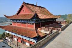 Buddhistischer Tempel in der alten Stadt von Zhouzi Stockfotografie