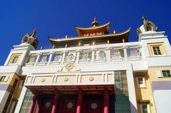 Buddhistischer Tempel goldener Wohnsitz von Buddha Shakyamuni Elista, Republik von Kalmückien, Russland Stockfotografie