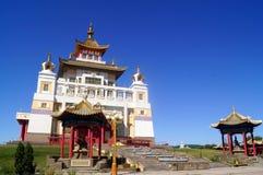 Buddhistischer Tempel goldener Wohnsitz von Buddha Shakyamuni Elista, Republik von Kalmückien, Russland Lizenzfreie Stockbilder