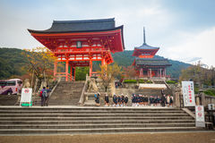 Buddhistischer Tempel Kiyomizu-Dera in Kyoto, Japan Stockfotos