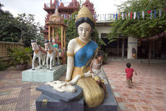 Buddhistischer Tempel in Phnom Penh Stockfotografie