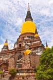 Buddhistischer Tempel Phra Chedi Chaimongkol, Ayutthaya, stockfotos