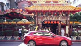 Buddhistischer Tempel in Taiwan stock footage