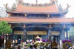 Buddhistischer Tempel in Taiwan stockbild