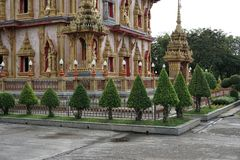 Buddhistischer Tempel in Thailand, der größte Tempel in Phuket stockfoto