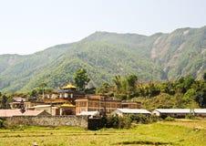 Buddhistischer Tempel in Tibet Stockfotografie
