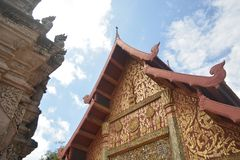 Buddhistischer Tempel und Pagode Lanna-Art Lizenzfreies Stockfoto