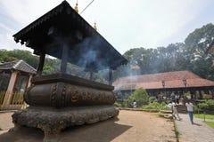 Buddhistischer Zahntempel von Kandy in Sri Lanka Stockbild