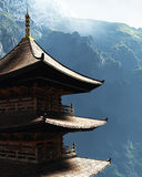 Buddhistischer Zen-Tempel Stockbild