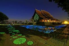 Buddhistisches churt in Ubonratchathani-Provinz Thailand lizenzfreies stockfoto