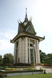 Buddhistisches Erinnerungsstupa Stockfoto