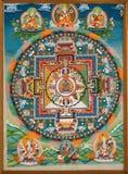 Buddhistisches Fresko Lizenzfreies Stockbild