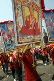 Buddhistisches frommes Ritual Stockbilder