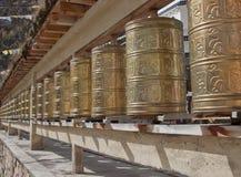 Buddhistisches Gebet-Rad Stockfotos