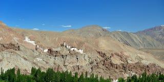Buddhistisches Kloster im Basgo-Dorf in Ladakh in Indien Lizenzfreie Stockfotos
