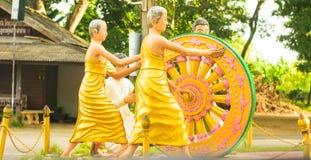 Buddhistisches Rad des Lebens stockfotos