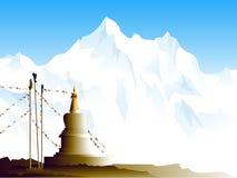 Buddhistisches stupa im Himalaja Stockbild