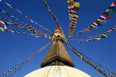 Buddhistisches stupa in Nepal Lizenzfreies Stockbild