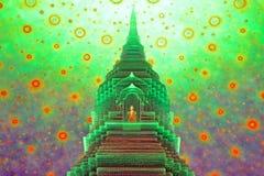 Buddhistisches stupa an Paknam-Tempel stockfoto