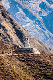 Buddhistisches stupa von Namche-Basar zu Tengboche stockbilder