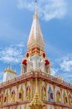 Buddhistisches stupa in Wat Chalong-Tempel Stockbilder