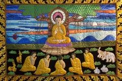 Buddhistisches Thangka - Chiang Mai - Thailand Stockfoto