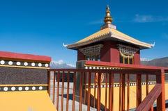 Buddhistisches tibetian Kloster in den Himalajabergen Lizenzfreies Stockbild