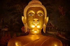 Buddhistisches Zeichen Rattanakosin-Kunst von Thailand lizenzfreies stockfoto