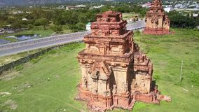 Buddhists Church Towers Carved from Stones by Road