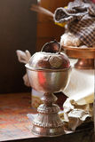 Buddhists cup Stock Photography