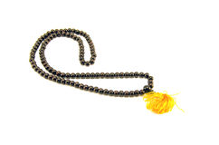 Buddhists prayers rosary beads isolated on white Stock Photography
