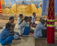 Buddhists praying Stock Images