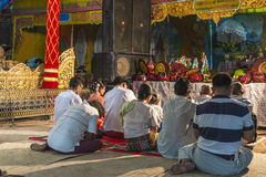 Buddhists praying Royalty Free Stock Photos