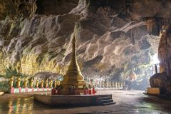 Free Buddhists Temple In Saddar Cave Near Hpa-an Royalty Free Stock Images - 106116619