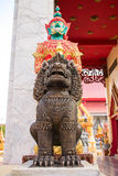 Buddhistsm giant and leo the guardian of the temple Royalty Free Stock Photo