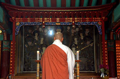 Buddhsit priest, Sokkuram Grotto, Korean Republic Stock Images
