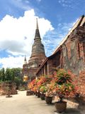 buddhWat Yai Chaimongkol Ayutthaya Tailândia Imagem de Stock